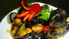 Mussel in Tong Yum sauce